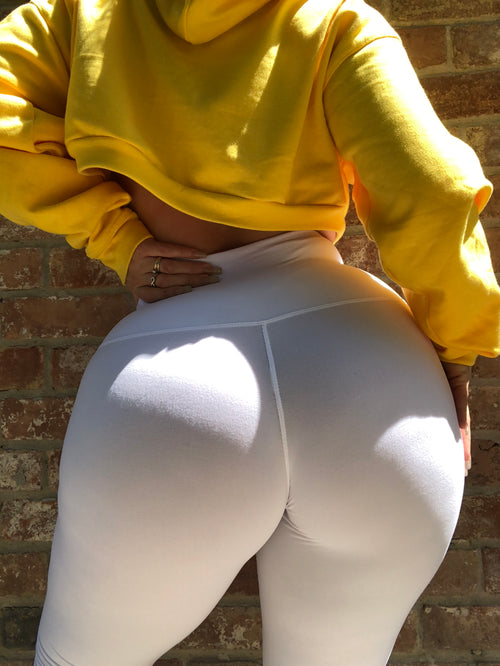 ALL THE WAY UP LEGGING - WHITE