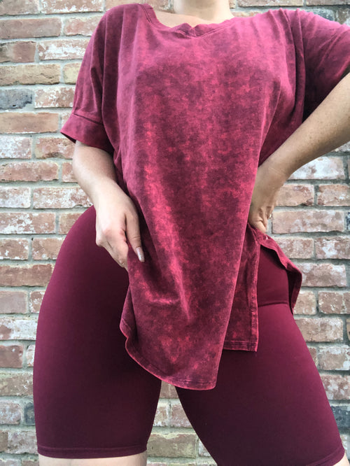 Biker Babe Short - Wine