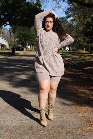 The Cozy Sweater Set (Legging) - Olive