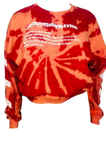SUPREMA TIE DYE SWEATPANTS - RED