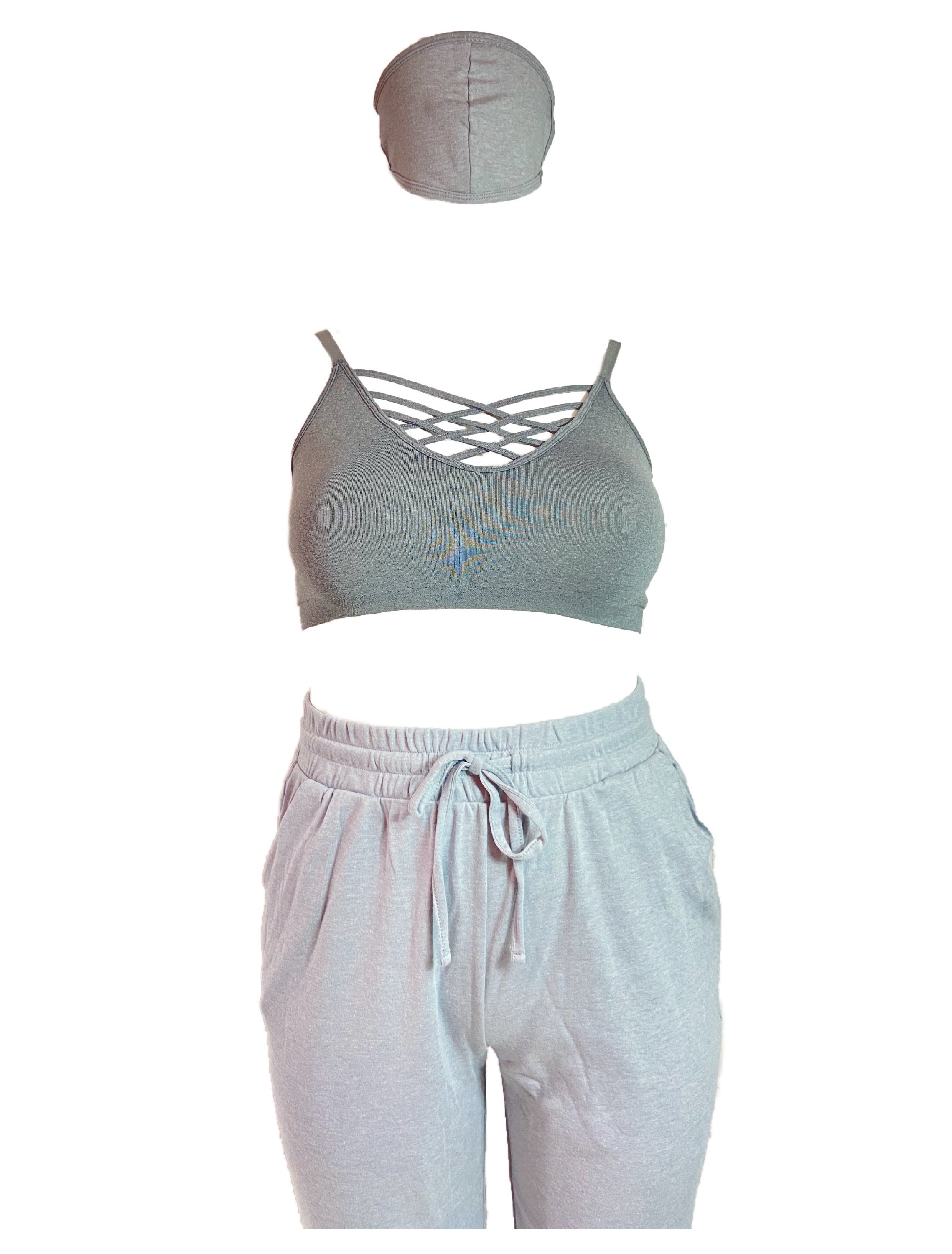 BODY BRALETTE - HEATHERED GRAY