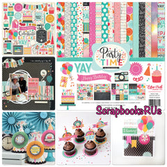 Echo Park Party Time Scrapbook Paper Kit