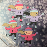 Custom GIRL ICE SKATER Die Cut Diecut Skating Winter