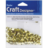 Darice Sequins GOLD 5mm 800pc Round Cup