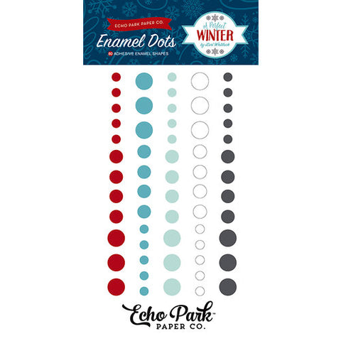 Echo Park A PERFECT WINTER Enamel Dots 60pc Scrapbooksrus