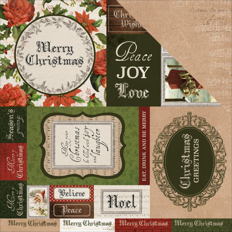 "Kaisercraft Letters to Santa Collection 12""X12"" Paper BE MERRY"