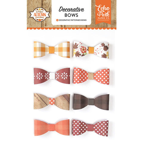 Echo Park A Perfect Autumn Decorative BOWS 8pc
