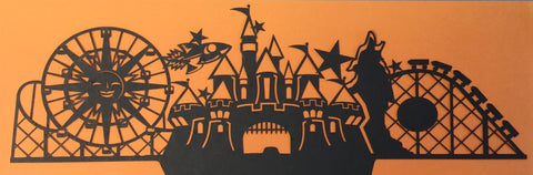 CALIFORNIA ADVENTURE Black Laser Cuts Scrapbooksrus
