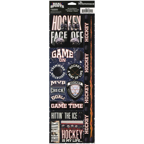 HOCKEY Reminisce Real Sports Stickers 16pc