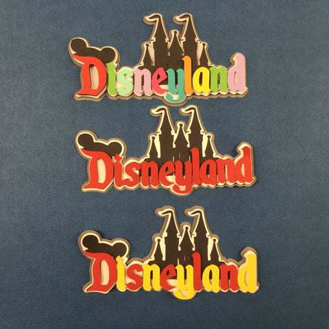 Disney DISNEYLAND Custom Die Cut Scrapbooksrus