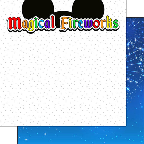 "Disney MAGICAL FIREWORKS - EARS DS 12""X12"" Paper Scrapbooksrus"