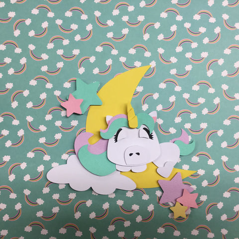 UNICORN Custom Scrapbook Die Cut Embellishments Scrapbooksrus