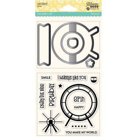 Jillibean Soup SPIN WHEEL Clear Stamps & Dies 16 pc. Scrapbooksrus