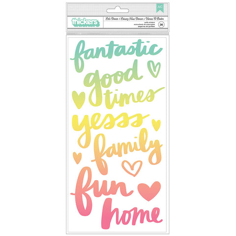 Thickers Amy Tangerine LET'S DANCE Stickers 35pc