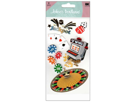 Ek Success Jolee's Boutique 3D CASINO Stickers 9pc Scrapbooksrus