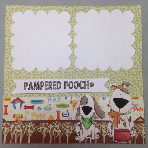 Page Kit (2) 12x12 Scrapbook PAMPERED POOCH FURR-EVER Pet - Scrapbook Kyandyland