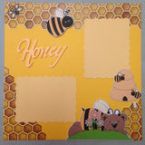 Page Kit (2) 12x12 Scrapbook HONEY BEE - Scrapbook Kyandyland