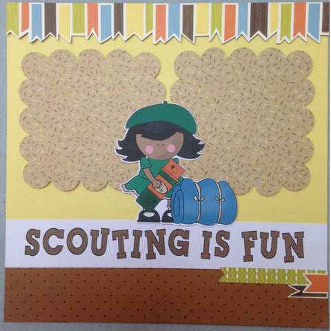 Page Kit (2) 12x12 Scrapbook GIRL SCOUTS FUNNY - Scrapbook Kyandyland
