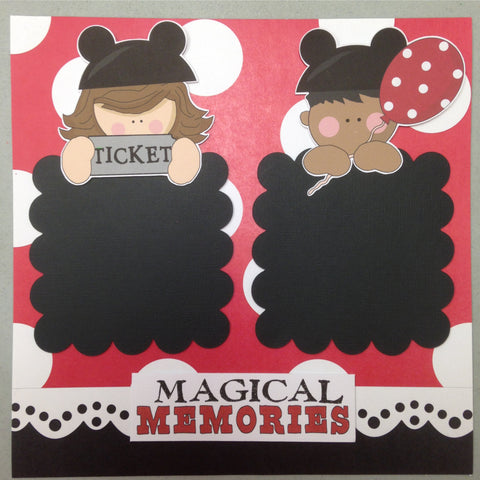 Page Kit (2) 12x12 Scrapbook DISNEY MAGICAL MEMORIES - Scrapbook Kyandyland