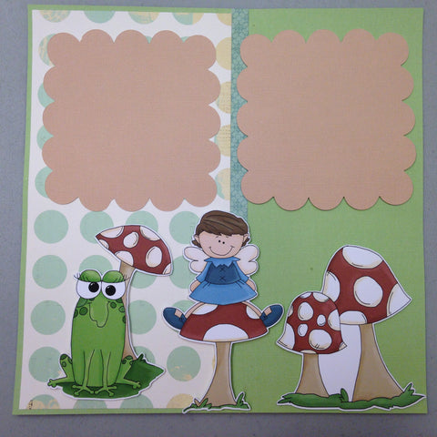 Page Kit (2) 12x12 Scrapbook IT'S A FAIRY THING - Scrapbook Kyandyland