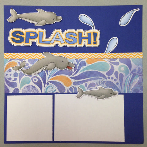 Page Kit (2) 12x12 Scrapbook SEA WORLD DOLPHINS - Scrapbook Kyandyland