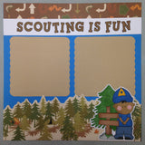 Page Kit (2) 12x12 Scrapbook BOY SCOUTS FUN - Scrapbook Kyandyland