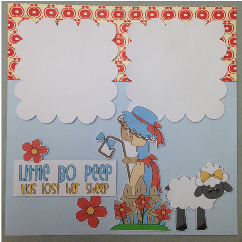 Page Kit (2) 12x12 Scrapbook LITTLE BO PEEP Kyandyland - Scrapbook Kyandyland