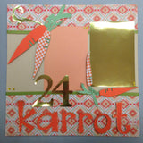 Page Kit (2) 12x12 Scrapbook 24 KARROT KID Easter - Scrapbook Kyandyland
