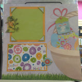 Page Kit (2) 12x12 Scrapbook Premade HAPPY EASTER BASKET - Scrapbook Kyandyland