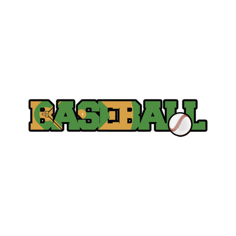 "BASEBALL DIMENSIONAL WORD Laser Cuts 3""X12"" 1pc Scrapbooksrus"