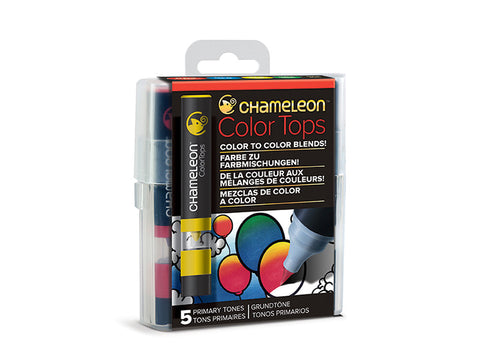 Chameleon Color Tops PRIMARY TONES Alcohol Markers Pens 5pc Scrapbooksrus