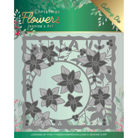 Jeanine's Christmas Flowers POINSETTIA  FRAME Cutting Die Scrapbooksrus