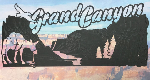 GRAND CANYON IMAGE Black Travel Laser Cuts