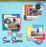 "American Crafts Shoreline 12""X12"" Beach Paper"