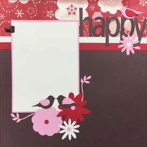 "$5.00 Premade Pages HAPPY BIRDS (2) 12""X12"" Scrapbook Pages Scrapbooksrus"