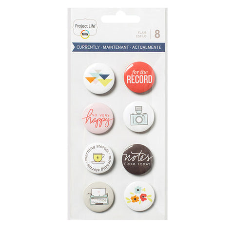 Becky Higgins Project Life CURRENTLY Flair Adhesive Badges 8pc