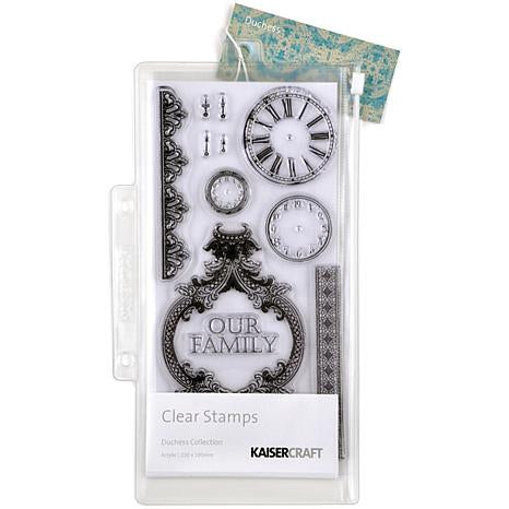KaiserCraft DUCHESS COLLECTION Clear Acrylic Stamps 12 pc. Scrapbooksrus