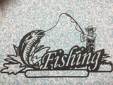 FISHING Page Border Laser Cuts Black