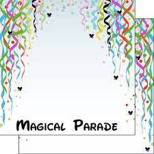 "Disney MAGICAL PARADE DOUBLE-SIDED 12""X12"" Paper Scrapbooksrus"