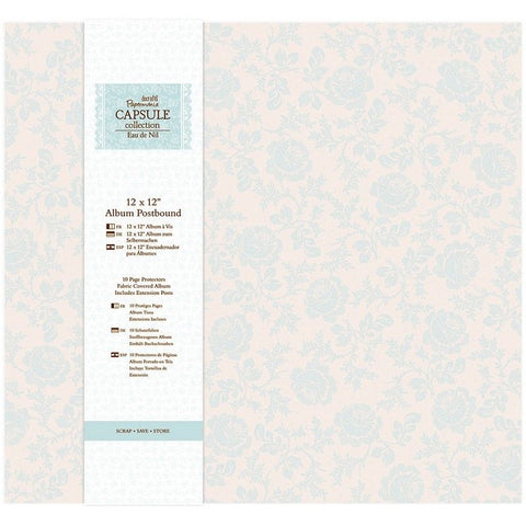 "Docrafts Papermania EAU DE DIL 12""X12"" Fabric Postbound Scrapbook Album"