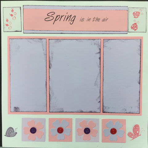 "Premade Pages SPRING IS IN THE AIR (2) 12""X12"" Scrapbook Pages Scrapbooksrus"