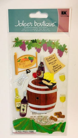 Jolee's Boutique WINE COUNTRY Stickers 12 pc. Scrapbooksrus