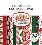 "Echo Park A GINGERBREAD CHRISTMAS 6""X6"" Paper Pad 24pc Scrapbooksrus"