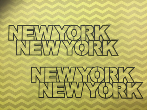 New York New York Las Vegas Scrapbook Die Cut @ Scrapbooksrus