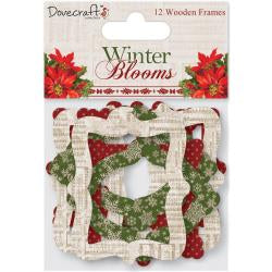 Dovercraft WINTER BLOOMS Wooden Frames 12pc