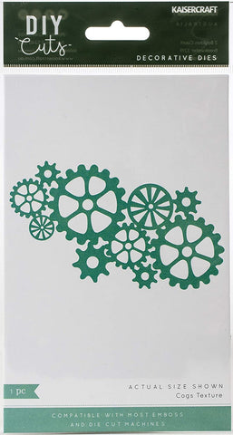 Kaisercraft DIY Cuts COGS TEXTURE Decorative Dies Scrapbooksrus