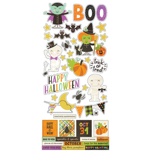 "Simple Stories HAPPY HALLOWEEN  Stickers 6""X12"" 39pc Scrapbooksrus"