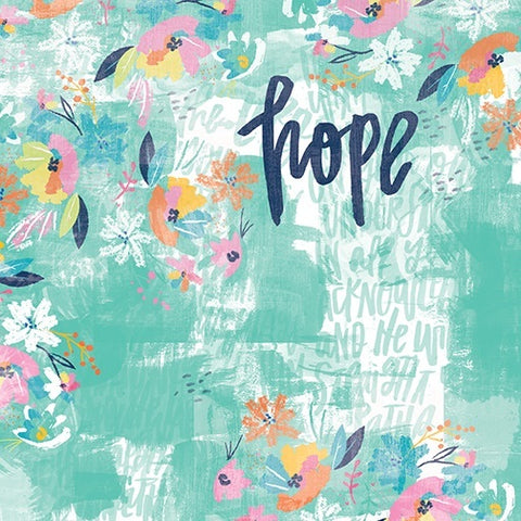 "Illustrated Faith HOPE 12""x12"" Scrapbook Paper"