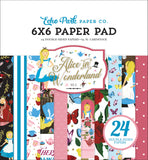 "Echo Park ALICE IN WONDERLAND No. 2 6""X6"" Paper Pad 24pc Scrapbooksrus"