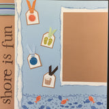 "$5.00 Premade Pages SHORE IS FUN (2) 12""X12"" Scrapbook Pages Scrapbooksrus"